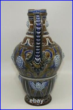 Doulton Lambeth c. 1877 extremely well decorated Stoneware jug Frank Butler