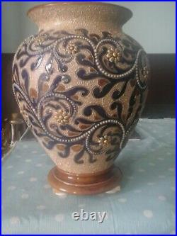 Doulton Lambeth large George Tinworth Vase