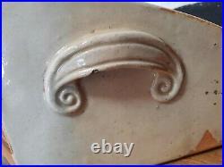 Doulton & Watts Lambeth pottery Antique hot water vessel / foot warmer