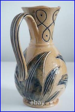 Early Doulton Lambeth Art Pottery Jug Frank Butler c. 1872