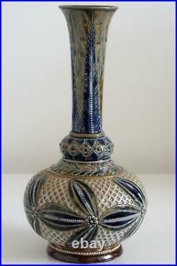 Early Doulton Lambeth Vase Elizabeth Fisher c. 1877
