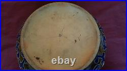 Early Doulton Stoneware Bowl Dated 1880 Interesting Backstamps