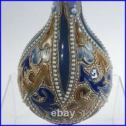 Emily Stormer Doulton Beaded Vase c1900 Very Attractive