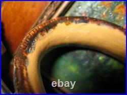 Exceptional Doulton Lambeth Frank Butler Art Pottery Metal Mounted Jug 1974