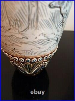Exquisite Hannah Barlow / Emily E Stormer Royal Doulton Vase featuring deer