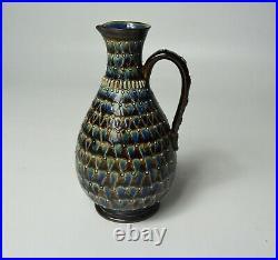 Fine Attractive Doulton Lambeth stoneware jug Kate Davis 1880