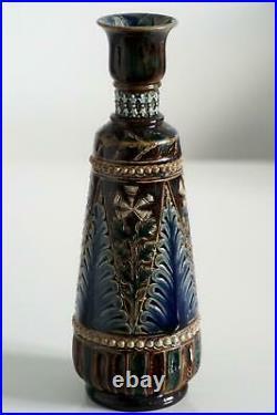 Fine Doulton Lambeth Early Vase John Broad c. 1879