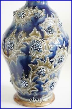 Fine Early Doulton Lambeth Vase George Tinworth Fabulous Shape c. 1876