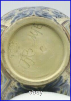 Frank A. Butler for Doulton Lambeth Pierced Rim Lobed Flared Vase 1887