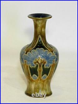 Frank Butler Doulton Lambeth Stoneware Vase. Art Nouveau-Arts & Crafts Style