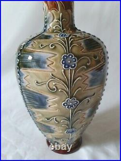Frank Butler Doulton Lambeth Vase, Art Nouveau / Arts & Crafts Style, Circa 1890