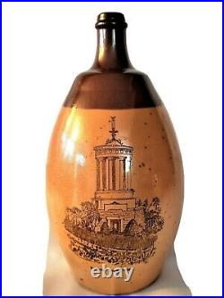 Huge Royal Doulton Lambeth Jug Depicting Burns Monument Whisky Stoneware Jug