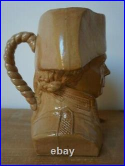 LORD NELSON Royal Doulton Stoneware Watts Lambeth character Jug c. 1905