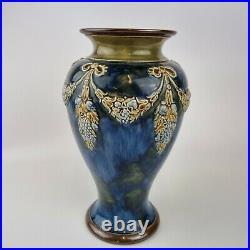 Large Antique Late 19th Century Doulton Lambeth Baluster Vase 26.5cm High