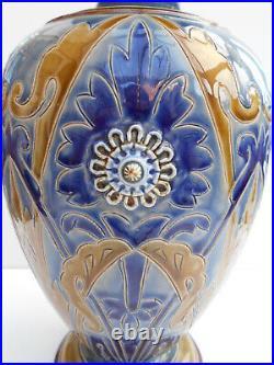Large Doulton Lambeth Vase Frank Butler Art Nouveau Design Circa 1883