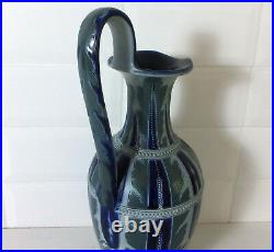 Large Doulton Lambeth stoneware jug by Frank A. Butler, dated 1876