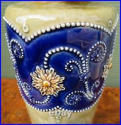 Large Vintage Royal Doulton Lambeth Ware Vase (h 36cm)