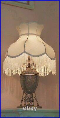 Mark V Marshall, DOULTON LAMBETH lamp, aesthetic/gothic revival/MARTIN BROTHERS