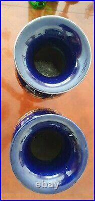 Outstanding pair of Art Nouveau Royal Doulton Stoneware vases 14 ins 35.56 cms h