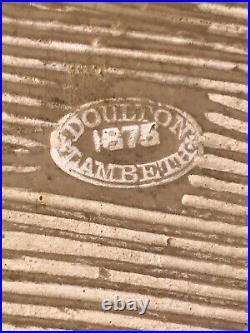 Pair Antique Doulton Lambeth Plaques By George Tinworth RARE 1875