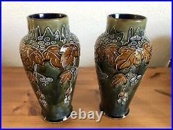 Pair Royal Doulton Stoneware Vases