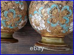 Pair of Royal Doulton Lambeth Slater Doulton Patent Vases 2072 Circa 1900's