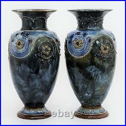 Pair of Royal Doulton Stoneware Vases c1910 (26cm)