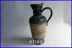 Pichet grés Doulton Lambeth Stoneware Hannah Barlow (33385)