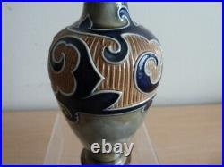 Pretty Royal Doulton Lambeth Stoneware Vase By Frank Butler