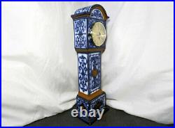 RARE Royal Doulton Lambeth Stoneware Tall Clock CASE Mantle 14 inches Tall