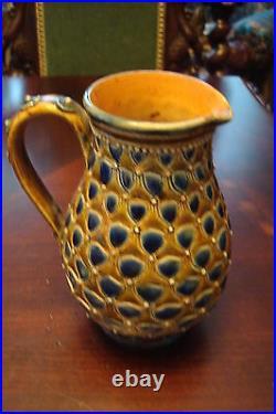 ROYAL DOULTON LAMBETH, London, UK c1880s, ceramic stoneware pitcher