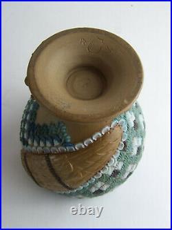 Rare Antique Doulton Lambeth Silicon-Ware Owl Tobacco Jar c1880