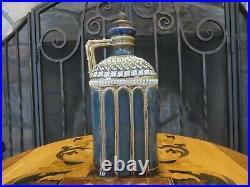 Rare Antique Doulton Lambeth Stoneware 9 1/2 Gin Decanter Emily Mayne (c. 1884)
