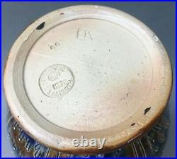 Rare Antique Doulton Lambeth Stoneware Lions Head Pitcher Vase EA