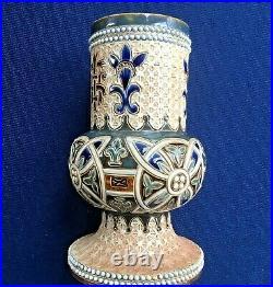 Rare Doulton Ecclesiastical Vase c 1880