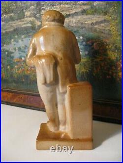 Rare Doulton Lambeth Mr Pickwick statue designed by Leslie Harradine C1919