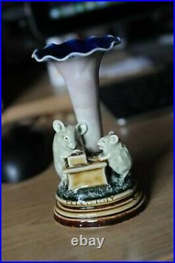 Rare Doulton Lambeth Tinworth mouse group'Electricity