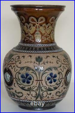 Rare Doulton Lambeth Vase By George Hugo Tabor c. 1884