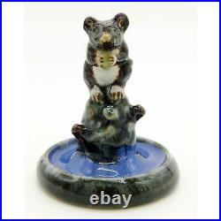 Rare Doulton Lambeth antique art Pottery mouse Bibelot C. 1920's