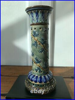 Rare and unusual Doulton Lambeth decorative stoneware chimney, with RB mark
