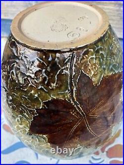 Royal Doulton Lambeth Art Nouveau Vase Rosina Brown c 1885