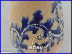 Royal Doulton Lambeth George Tinworth Tall Vase Scrolling Decoration 1879