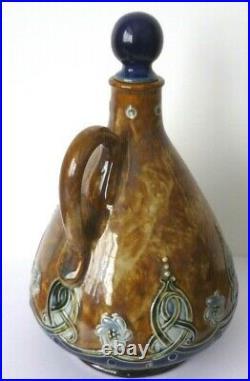 Royal Doulton Lambeth James Burrough Ltd Whisky/ Liqueur Flask By Maud Bowden