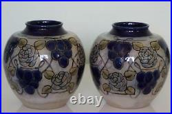 Royal Doulton Lambeth'New Style' Art Nouveau Vases Margaret Thompson c. 1912