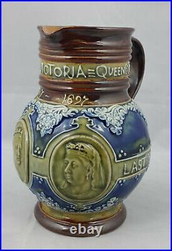 Royal Doulton Lambeth Queen Victoria Jug / Pitcher Model No. 7502