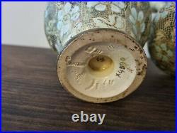 Royal Doulton Lambeth Slater Doulton Patent Vases pale blue 4590 Circa 1900