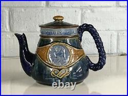 Royal Doulton Lambeth Stoneware Admiral Lord Nelson Tea Pot Commemorative