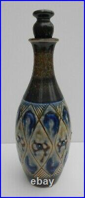 Royal Doulton Lambeth Stoneware Decanter Agnete Hoy Design
