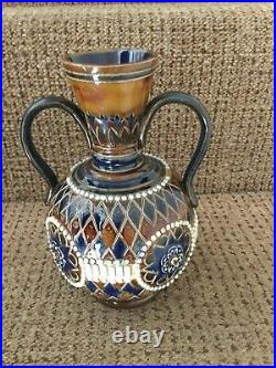 Royal Doulton Vase Lambeth 1900 In Good Condition For Is Age. 20 CM High