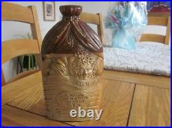 Saltglaze Stoneware C19th'skinners Arms' London Mr & Mrs Caudle Reform Flask
